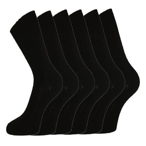 mens-100-cotton-non-elastic-loose-wide-top-socks-size-6-11-uk-black-12-pairs