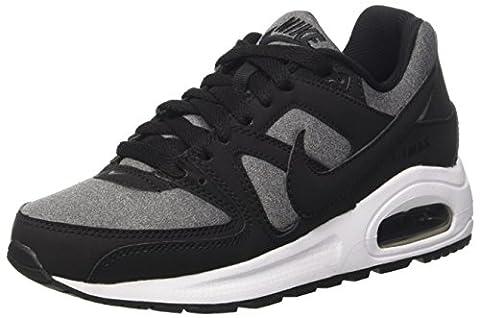 Nike Air Max Command Flex (GS), Chaussures de Running Garçon, Noir / Noir-Blanc, 36 EU
