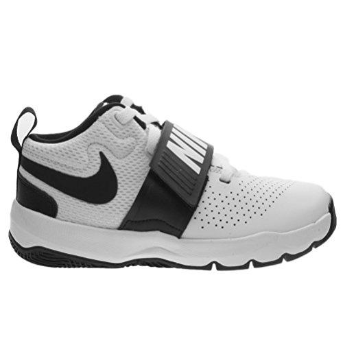 Nike Team Hustle D 8 Ps, Chaussures de Basketball Fille blanc/bleu