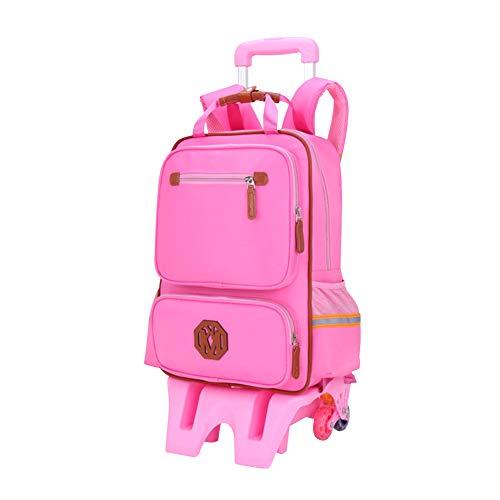 sack Kinderrucksäcke - Junge Mädchen Rollen Schultaschen Rolling Rucksäcke Schulranzen Schultrolley Koffer Schüler Taschen Sechs Rädern Tasche Abnehmbar ()