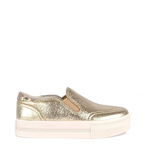 Ash Scarpe Jungle Platine Sneaker Oro Donna 39 EU Platine