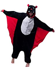 LIHAO Pijama Disfraz de Bat para Adulto Unisex, Cosplay, Carnaval (Talla:L)