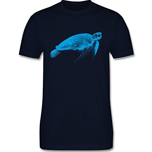 Sonstige Tiere - Wasserschildkröte - Herren Premium T-Shirt Navy Blau