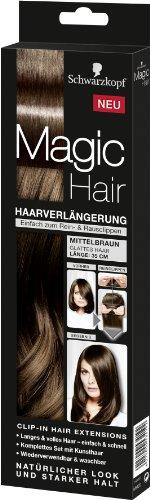Schwarzkopf Magic Haarverlängerung Länge 35 cm, Mittelbraun