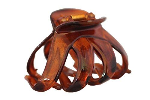 Haarkralle Oktopus Clip Schmetterling Bulldoggen Design Plastik - , Dunkelbraun