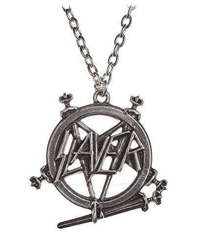 Slayer Necklace Pendant Pentagram band Logo Nue offiziell Alchemy Silber (Metall-anarchie-symbol)