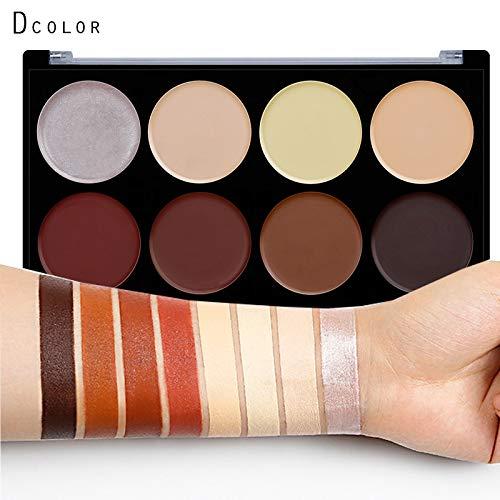 8 couleurs de maquillage Correcteur Contour Palette,Palette Contouring Professionnelle,Ultra Cream Contour Palette,Contour de Visage et Bronzant Palette,naturelle Professionnel Beauté Cosmétique