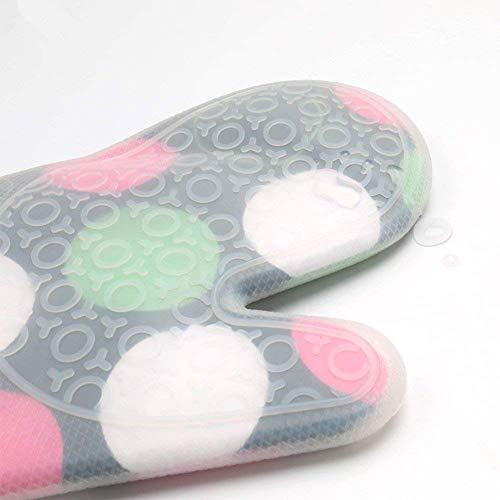 LCZ Hitzebeständige Silikon-Küchenhandschuhe,Ofen-Handschuhe Dickere Silikon,Kochende, Handschuh-Mikrowellenherd-Küche Druck-Handschuhe,Weiß