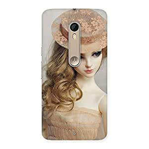 Premium Royal Doll Multicolor Back Case Cover for Motorola Moto X Style