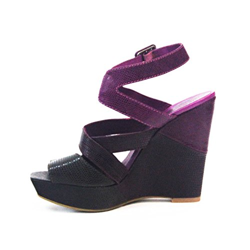 JUICY COUTURE deux tons Talon Sandales Taille 4 Violet - violet