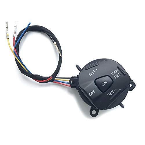 Multifunktion Lenkrad Taste Tempomat Schalter mit Draht Passt für Fiesta MK7 MK8 ST Ecosport 2013, Blaue Led (Lenkradknopf mit Drähten) Multifunktions-taste