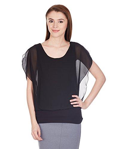 Harpa Women's Body Blouse Shirt (GR2136_Black_XL)