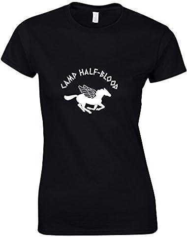 Camp Half-Blood, Gedruckt Frauen T-Shirt - Schwarz/Weiß S =