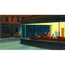 Cuadro sobre lienzo 110 x 60 cm: Nighthawks de Edward Hopper - cuadro terminado, cuadro sobre bastidor, lámina terminada sobre lienzo auténtico, impresión en lienzo