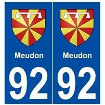 92 Meudon blason autocollant plaque stickers ville - arrondis