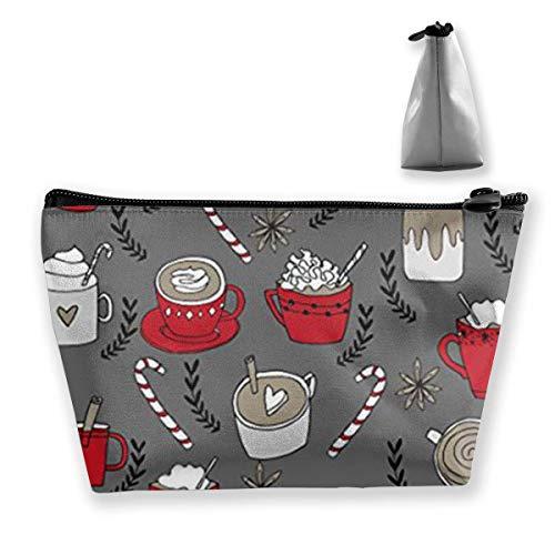Heiße Schokolade Weihnachten Pfefferminze Latte Kosmetik Make-up Tasche/Beutel/Clutch Travel Case Organizer Aufbewahrungstasche - Pfefferminz-mundwasser