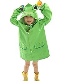 Lluvia abrigos para niños, impermeable niños niñas divertido Raincoat niños de la historieta Lluvia Chaqueta Abrigo Chubasquero traje 3–8años/chubasquero para niños al aire libre Camping Ciclismo