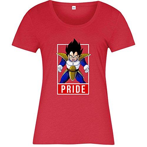 Vegeta Pride T-shirt, Dragon Ball Z Ladies Top