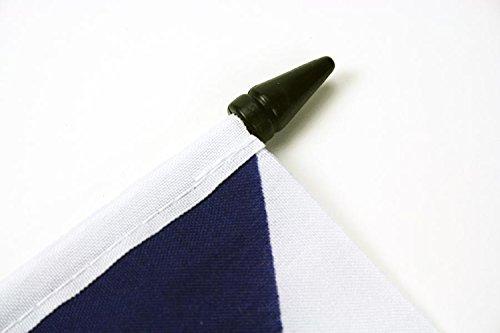 AZ FLAG TISCHFLAGGE Russland 21x14cm - RUSSISCHE TISCHFAHNE 14 x 21 cm - flaggen