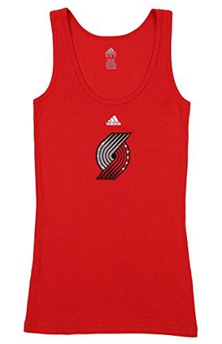 adidas Portland Trail Blazers NBA Damen Lang Rib Tank, Rot, Damen, Rot, Medium