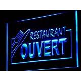 Enseigne Lumineuse j184-b OUVERT Restaurant OPEN Food Neon Light Sign