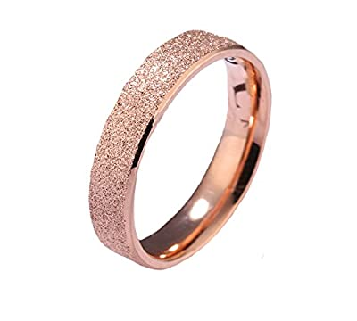 Yellow Chimes Dazzling Stardust Rose Gold Stainless Steel Ring for Girls & Women