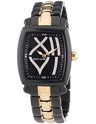 Pierre Cardin Damen-Armbanduhr Tonneau Evolution Madame Analog Quarz Edelstahl beschichtet PC102072F06