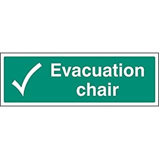 Caledonia Signs 12147L Evakuation Chair Schild, starrer Kunststoff, L: 450 mm x 150 mm