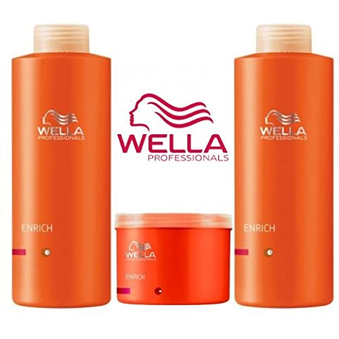 Wella Professionals Enrich Volumising Supersize Trio Shampoo 1000ml & Conditioner