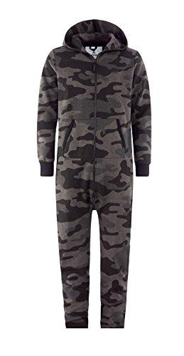 Onepiece Damen Jumpsuit Camouflage, Grau (Grey Melange) - 6