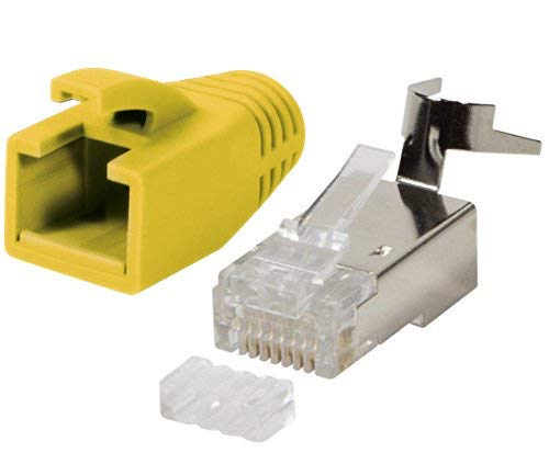 Odedo® 10 unidades Crimp conector Amarillo Cat 7