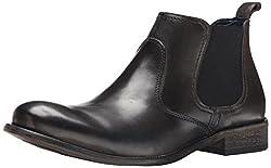 Steve Madden Mens Banford Black Leather Boots - 9.5 UK
