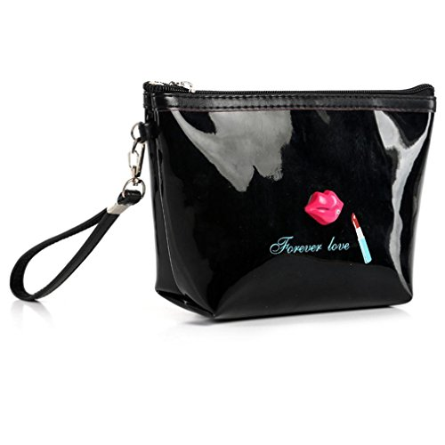 overmal-sacoche-portable-cosmetiques-etui-zip-toilette-organiseur-voyage-sac-a-main-dembrayage-noir