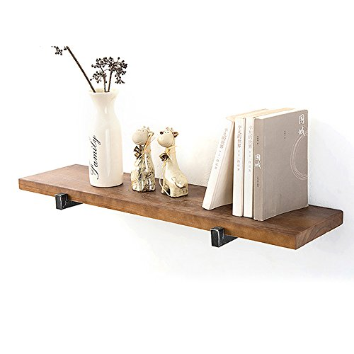 BOOK CASE SEXY- Retro Massivholz Partition \ Wand Racks \ Wand Kreative Regale \ Hintergrund Wandschrank \ Wandbehang \ Dekorative Regal (Farbe : Square Tube, größe : 60cm) (Square-eisen-wand-dekor)
