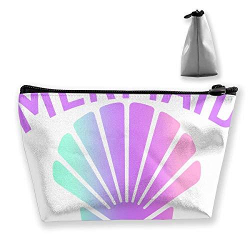 Mermaid Shell Off Duty Pencil Case Pen Zipper Bag Coin Organizer Makeup Costmetic Storage Bag Pouch