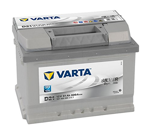 VARTA D21 Silver Dynamic Autobatterie 561 400 060 3162, 12V, 61Ah, 600A
