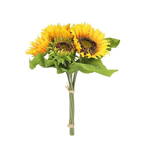 Hermoso girasol artificial 7tallos para casa boda decoración Floral