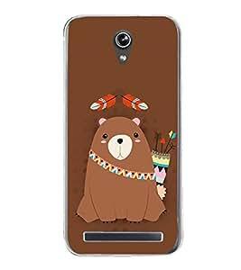 Warrior Bear 2D Hard Polycarbonate Designer Back Case Cover for Asus Zenfone Go ZC500TG (5 Inches)