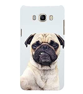 Cute Puppy with Funny Face 3D Hard Polycarbonate Designer Back Case Cover for Samsung Galaxy On8