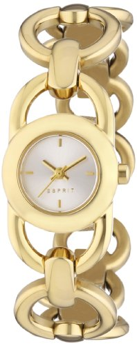 Esprit Lorro Women's Quartz Watch with Silver Dial Analogue Display and Gold Plated Stainless Steel Bracelet ES106802002