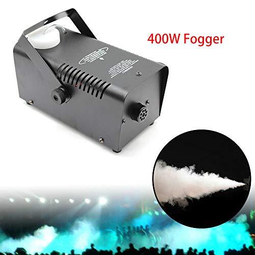 400W Nebelmaschine Bühnennebelmaschine, Rauch Effekt Spray Fogger Bühneneffekt für Party DJ Disko Hochzeit Halloween Club usw