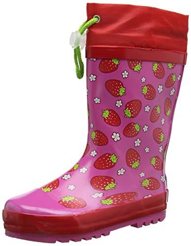 Playshoes Mädchen Girls Wellies Strawberries Schlupfstiefel, Rosa, 28/29 EU - Rosa Wellies