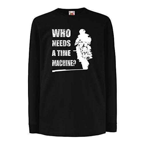 lepni.me Bambini t-Shirt con Maniche Lunghe Abbigliamento Moto (7-8 Years Nero Multicolore)