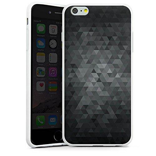 Apple iPhone 6s Tasche Hülle Flip Case Dreiecke Modern Dunkel Silikon Case weiß
