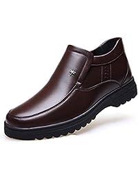 Calzado de Hombre Ropa Interior Piel Zapatos de Nieve Padre Mayor de Hombre Botas Ropa Casual