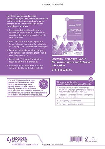 Cambridge IGCSE® Mathematics Core and Extended Workbook