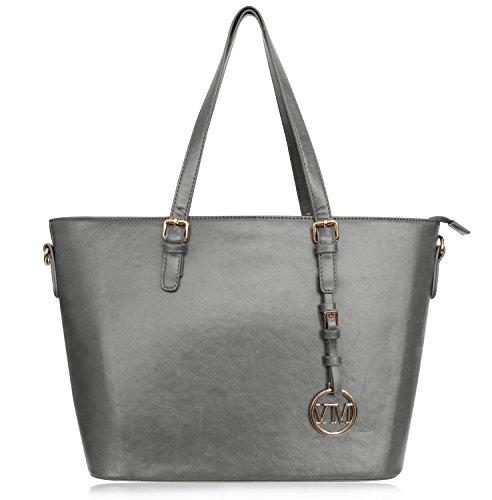 Vanessa & Melissa Damen Shopper Klassische Handtasche aus hochwertigem Kunstleder -