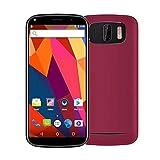 SO-buts Xbox-X3 3G Smartphone,6.0''Zoll Android 7.0,Dual-Karte-Handy,Maximaler Erweiterter Speicher 64GB,Dual HD-Camera WiFi Bluetooth Mobiltelefon, Regale (Rot)