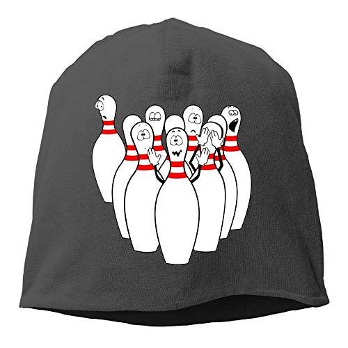 ASKYE Humorous Funny Bowling Winter Beanie Skull Cap Warm Knit Ski Slouchy Hat Durable Satin Wool Cap