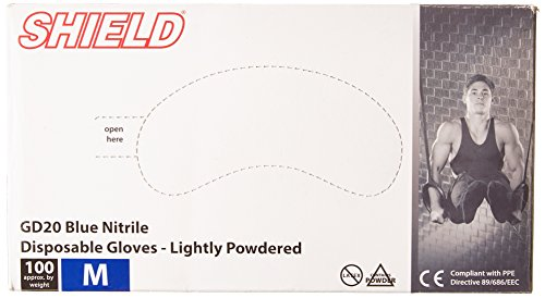 GENERIC SHIELD   PRENDA  COLOR AZUL  TALLA 100 PACK